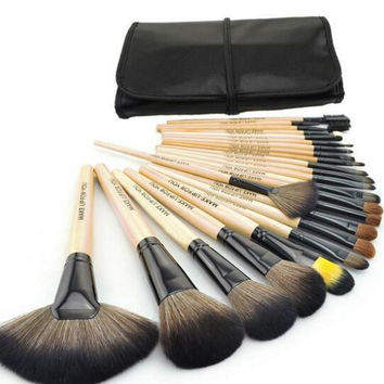 HOT Professional 24 pcs Paintbrushes of Makeup Brushes tools set Make-up Toiletry Kit Wool Brand hand to Make Up Brush Set Case