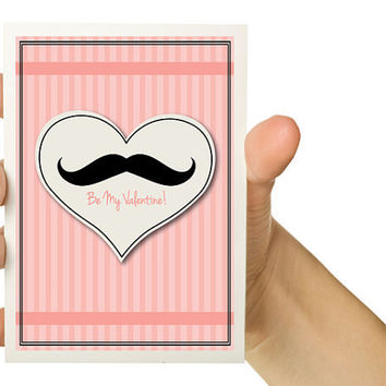 Funny Valentine Card Be my Valentine Black by TheWallaroo