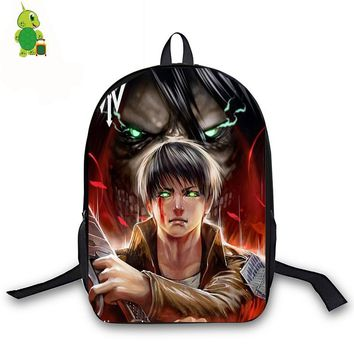 Cool Attack on Titan Anime  Backpack for Teenage Girls Boys Book Bag Eren Women Men Laptop Travel Backpack Children School Bags AT_90_11