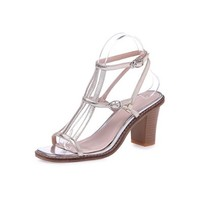 Nine Seven Genuine Leather Womens Ankle-strap Chunky Heel Handmade Sandal