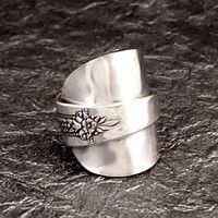 Romford Whole Spoon Ring Silver Plate size 8 to 12 MR0401-DAC113