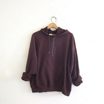 vintage coed sweatshirt. faded purple hooded sweatshirt. slouchy sweatshirt hoodie.