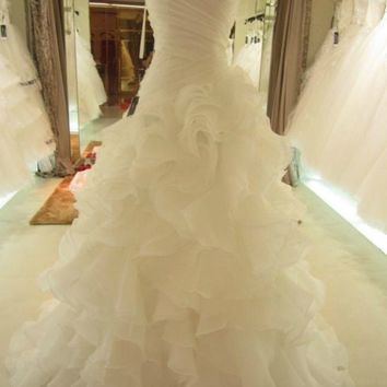 2014 New White/Ivory Wedding Dress Bridal Gown Custom Size 2-4-6-8-10-12-14-16++