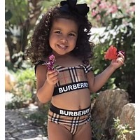 Burberry baby Fashion Bikini Set Swimsuit Swimwear