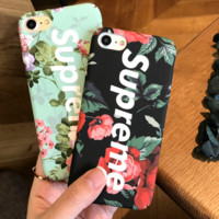 Supreme Flower Printed Iphone 8 8 Plus & 7 7Plus & 6 6s Plus Cover Case