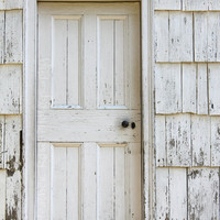 Old White Wooden Door 8inx12in Photograph Old by ArtbyHeatherRose