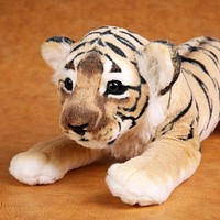 Realistic Soft Stuffed Animals Plush Toys - Tiger, Lion, Leopard