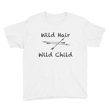 Wild Hair Wild Child Kids Youth Short Sleeve T-Shirt