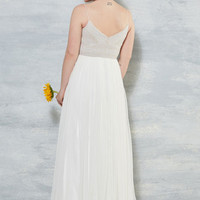 Shine Bride Like a Diamond Maxi Dress in White | Mod Retro Vintage Dresses | ModCloth.com