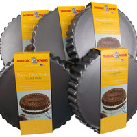 Set 5 Nordic Ware Creme Filled Cake Cookie Baking Pans Non Stick Aluminum Silver