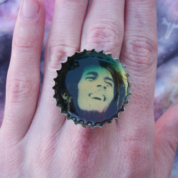 Bob Marley Rasta Adjustable Ring Eco Jewelry