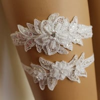 FREE SHİP Wedding Garters,White Lace Bridal Garter,Lingerie Bridal Lace shoes Flowers Garter