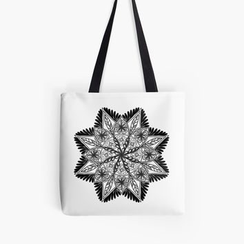'Hand-drawn Mandala Art' Tote Bag by craftymummy