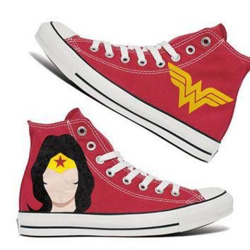 VONR3I Wonder Women Custom Converse / Painted Shoes