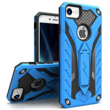 iPhone 8 Case / iPhone 7 Case - Zizo [Static Series] Impact Resistant [Military Grade Drop Tested] with Built In Kickstand [iPhone 8 Heavy Duty Case]
