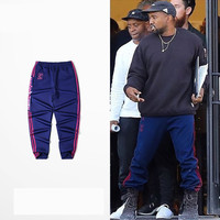 2017 Kanye West Season 4 Sweatpants CALABASAS Hip-hop joggers pants sport jogging sweatpants for men/women 5 colors