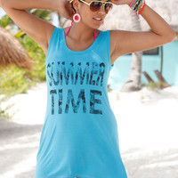Letters Printed Tank Top