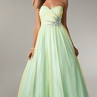 LA Glo Strapless Ball Gown