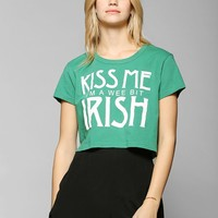 Truly Madly Deeply Kiss Me I'm Irish Cropped Tee - Urban Outfitters