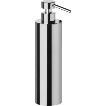 Lisa Freestanding Pump Liquid Soap Lotion Dispenser for Bathroom, Kitchen, Solid Brass