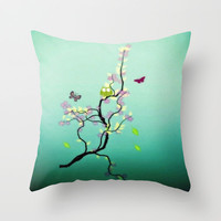 Chaotic Tree ( series ) Throw Pillow by Laura Santeler