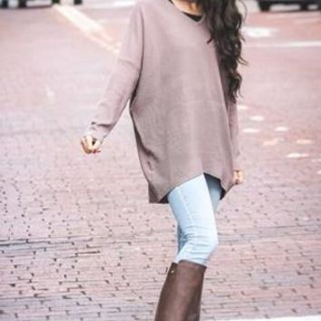 Long Gone Oversized Mauve Sweater
