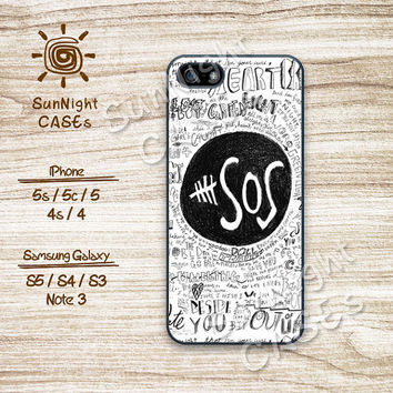 5 sos, 5 seconds of summer, iPhone 5 case, iPhone 5C Case, iPhone 5S case, Phone case, iPhone 4 Case, iPhone 4S Case, Phone Skin, 0487