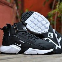 Acronym City MID Leather black/white Size 40-45
