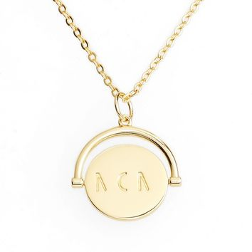 lulu dk Mom Love Letters Spinning Pendant Necklace | Nordstrom