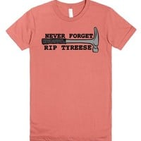 Never Forget RIP Tyreese walking dead-Unisex Pomegranate T-Shirt