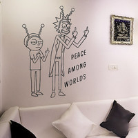 Rick and Morty - Peace Among Worlds - Vinyl Wall Decal