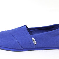 Toms Women's Classic Cobalt Blue Earthwise Casual Shoes