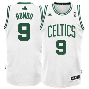 Mens Boston Celtics Rajon Rondo adidas White Swingman Home Jersey