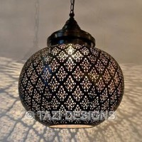 Modern Moroccan Pendant Light - Dahon Sphere : Moroccan Lamps & Lanterns : Modern Moroccan Lighting : Tazi Designs : : :