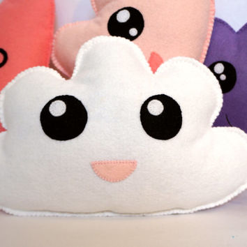 Cloud Baby Pillow - White Felt - Plush Toy