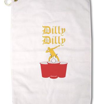 "Dilly Dilly Funny Beer Premium Cotton Golf Towel - 16"" x 25 by TooLoud"