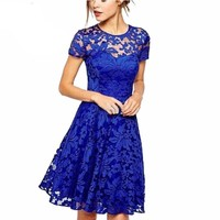 Short Sleeve Lace Dresses for Women