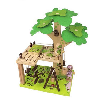 Tree House Wooden Toy Set. Made from sustainable plantation plywood and is easily assembled using a simple connection system.