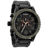 Nixon The 51-30 Chrono Watch Matte Black/Industrial Green One Size For Men 22903810001