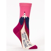 Heading To My Next Mistake Rocket Women's Crew Socks