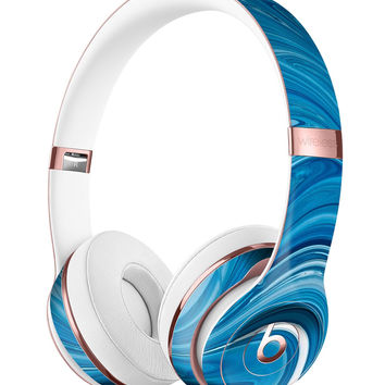 Liquid Blue Color Fusion Full-Body Skin Kit for the Beats by Dre Solo 3 Wireless Headphones