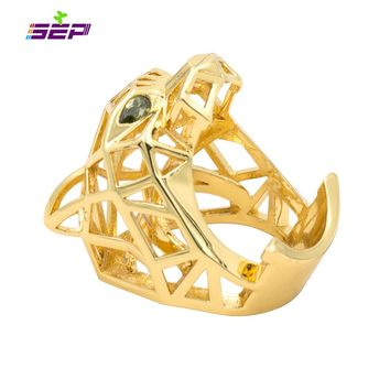 Green Eyes Leopard Panther Cocktail Ring for Men/ Women Crystals Jewelry Accessories RIA003