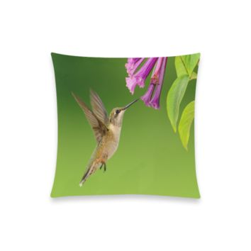 """Hummingbird Delight New Pillow Case Pillow Inner Included 20""""x20""""(Two sides)   ID: D355998"""