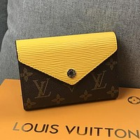 Louis Vuitton LV Women Leather Fashion Purse Wallet