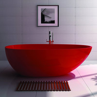 Oval Freestanding Tub Red or White (2 sizes) - SW-105