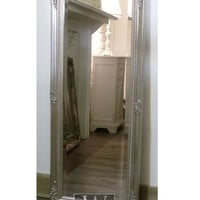 "Cannes Silver Shabby Chic Full Length Antique Dress Mirror 16"" x 52"" Medium"