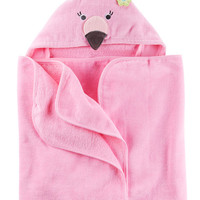 Flamingo Hooded Towel