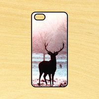 Deer in the Snow Phone Case iPhone 4 / 4s / 5 / 5s / 5c /6 / 6s /6+ Apple Samsung Galaxy S3 / S4 / S5 / S6