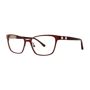 Dana Buchman - Primrose 52mm Cranberry Eyeglasses / Demo Lenses