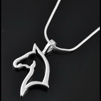 Hollow Horse Necklace